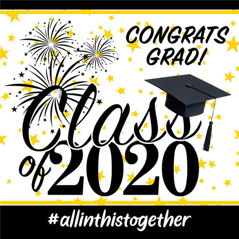 Generic 2020 High School Graduation 24x24 Class of 2020 Yard Sign (Option B)