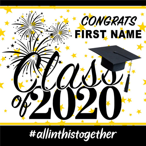 Generic Class of 2020 24x24 #shineon2024 Yard Sign (Option A)