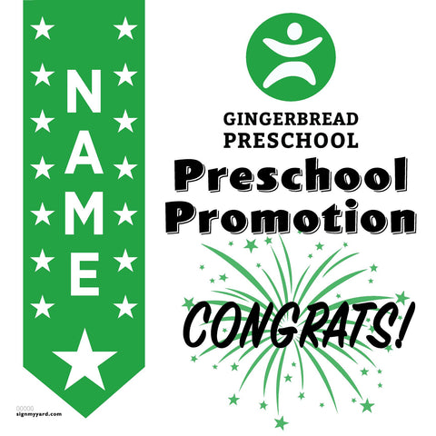 Gingerbread Preschool 24x24 Yard Sign (Option B)