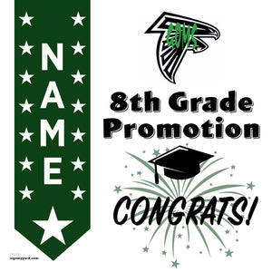 Granite Oaks Middle School 8th Grade Promotion 24x24 #shineon2024 Yard Sign (Option B)
