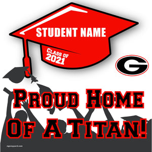 Gunn High School 24x24 Class of 2021 Yard Sign (Option B)