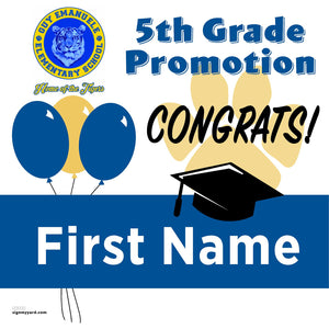 Guy Emanuele Elementary School 5th Grade Promotion 24x24 #shineon2027 Yard Sign (Option A)