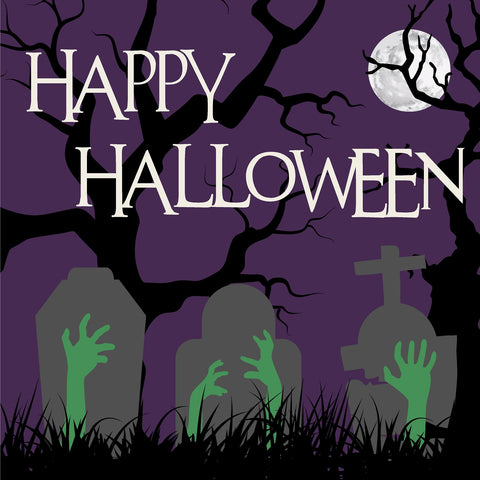 24x24 Halloween Yard Sign with Stake Option C (Includes installation in our coverage area)
