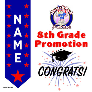 Harvest Park Middle School 8th Grade Promotion 24x24 Yard Sign (Option B)