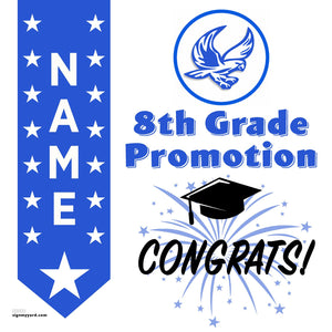 Herbert Hoover Middle School 8th Grade Promotion 24x24 #shineon2024 Yard Sign (Option B)