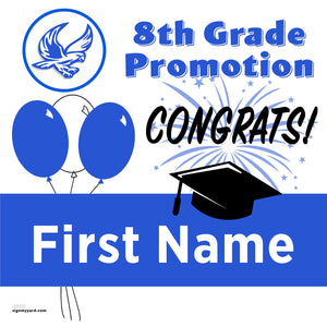 Herbert Hoover Middle School 8th Grade Promotion 24x24 Yard Sign (Option A)