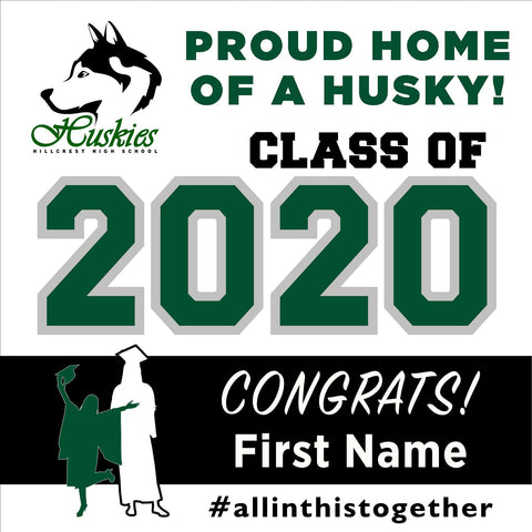 Hillcrest High School 24x24 Class of 2020 Yard Sign (Option A)
