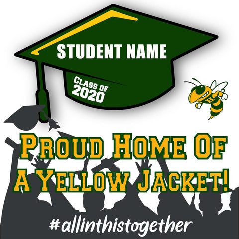 Hilmar High School 24x24 Class of 2020 Yard Sign (Option B)