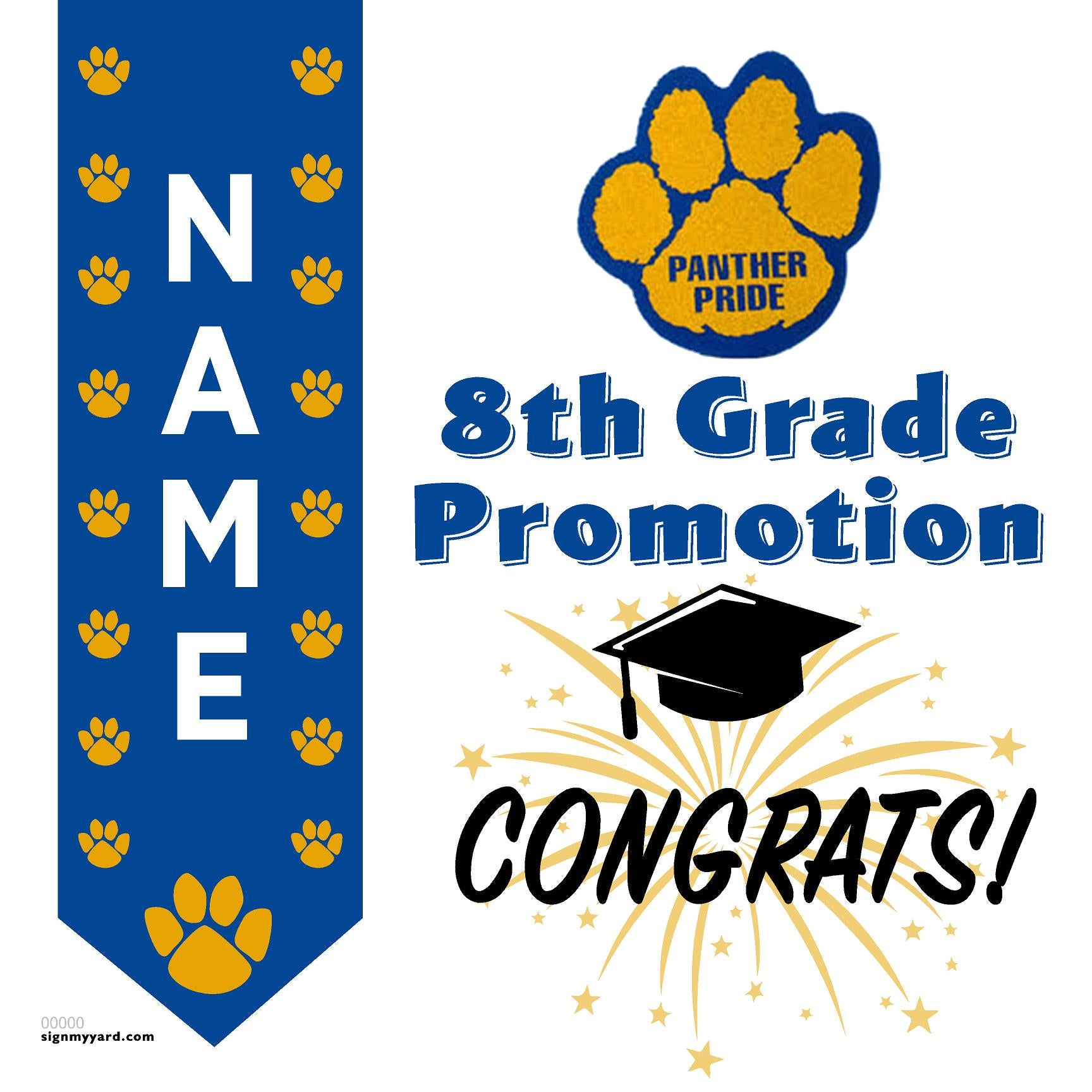 Ida Price Middle School 8th Grade Promotion 24x24 #shineon2024 Yard Sign (Option B)