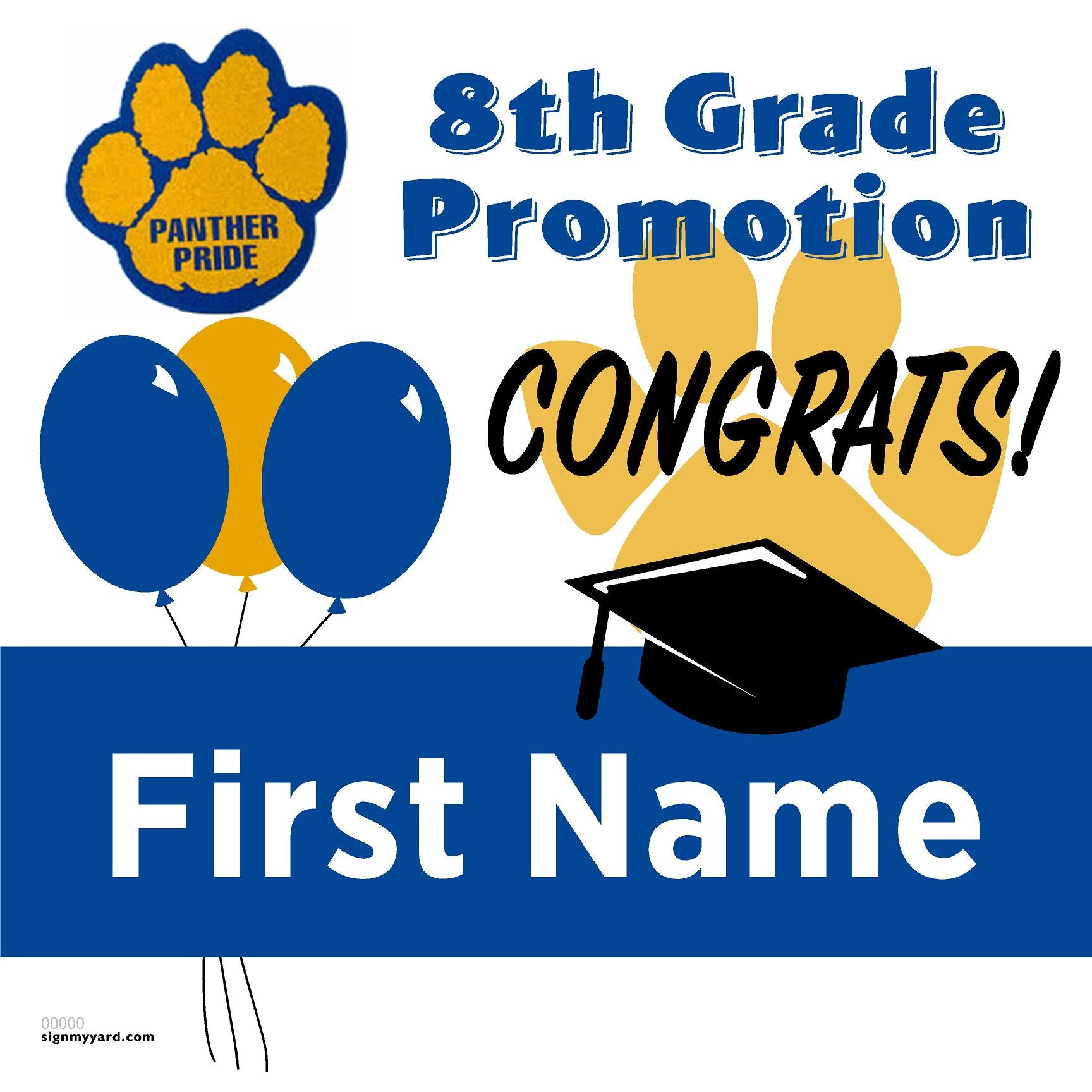 Ida Price Middle School 8th Grade Promotion 24x24 #shineon2024 Yard Sign (Option A)