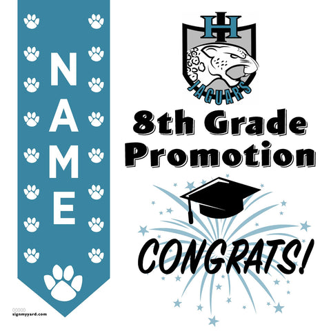 Iron Horse Middle School 8th Grade Promotion 24x24 #shineon2024 Yard Sign (Option B)