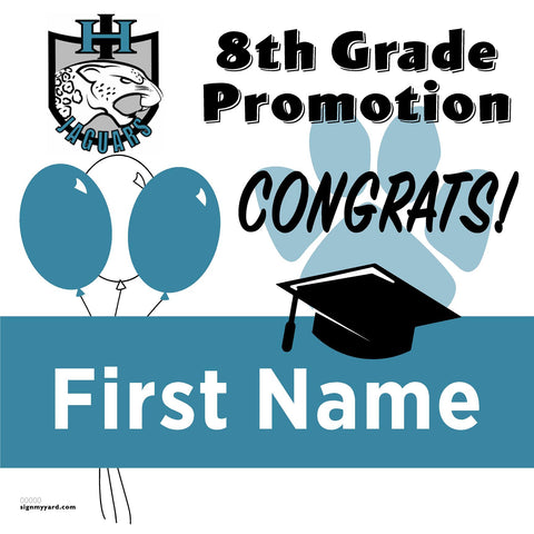 Iron Horse Middle School 8th Grade Promotion 24x24 Yard Sign (Option A)
