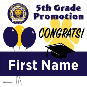 John Baldwin Elementary School 5th Grade Promotion 24x24 #shineon2027 Yard Sign (Option A)