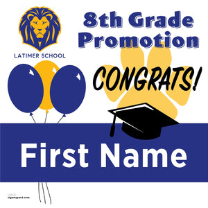 Latimer School (San Jose) 8th Grade Promotion 24x24 #shineon2024 Yard Sign (Option A)