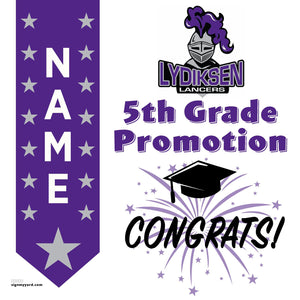 Lydiksen Elementary School 5th Grade Promotion 24x24 #shineon2027 Yard Sign (Option B)