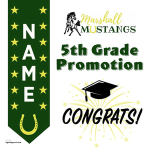 Marshall Elementary School 5th Grade Promotion 24x24 #shineon2027 Yard Sign (Option B)
