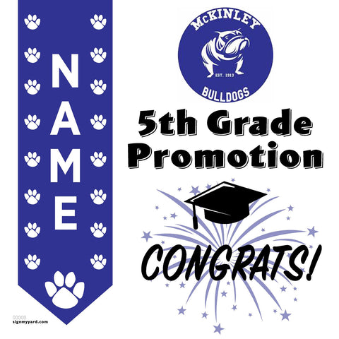 McKinley Elementary School 5th Grade Promotion 24x24 #shineon2027 Yard Sign (Option B)