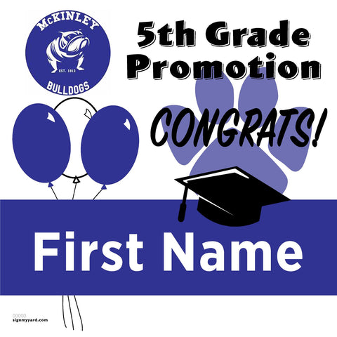 McKinley Elementary School 5th Grade Promotion 24x24 #shineon2027 Yard Sign (Option A)