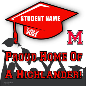 McLane High School 24x24 Class of 2021 Yard Sign (Option B)