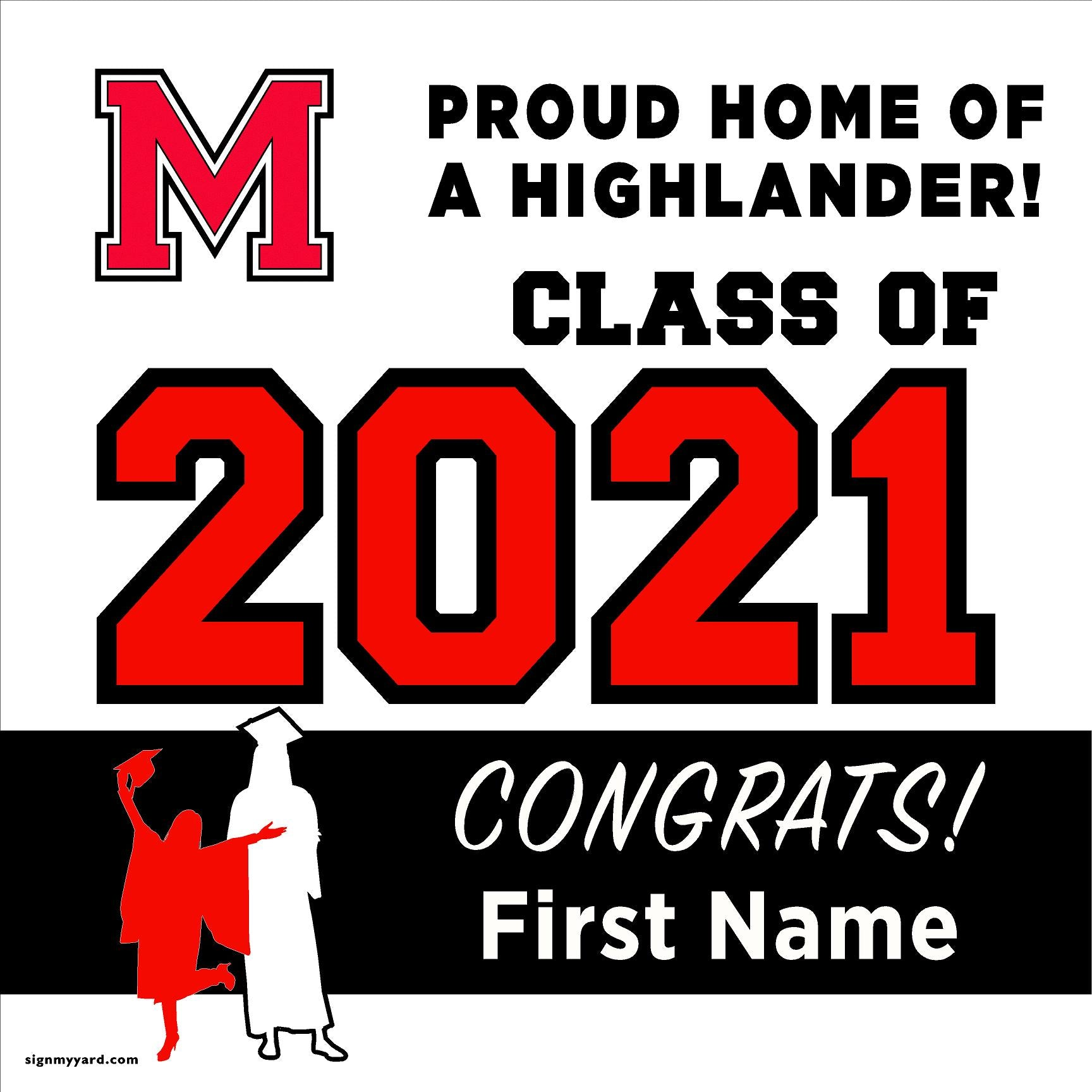McLane High School 24x24 Class of 2020 Yard Sign (Option A)