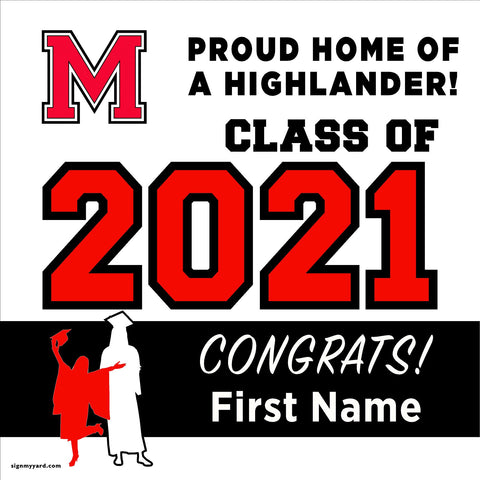 McLane High School 24x24 Class of 2021 Yard Sign (Option A)