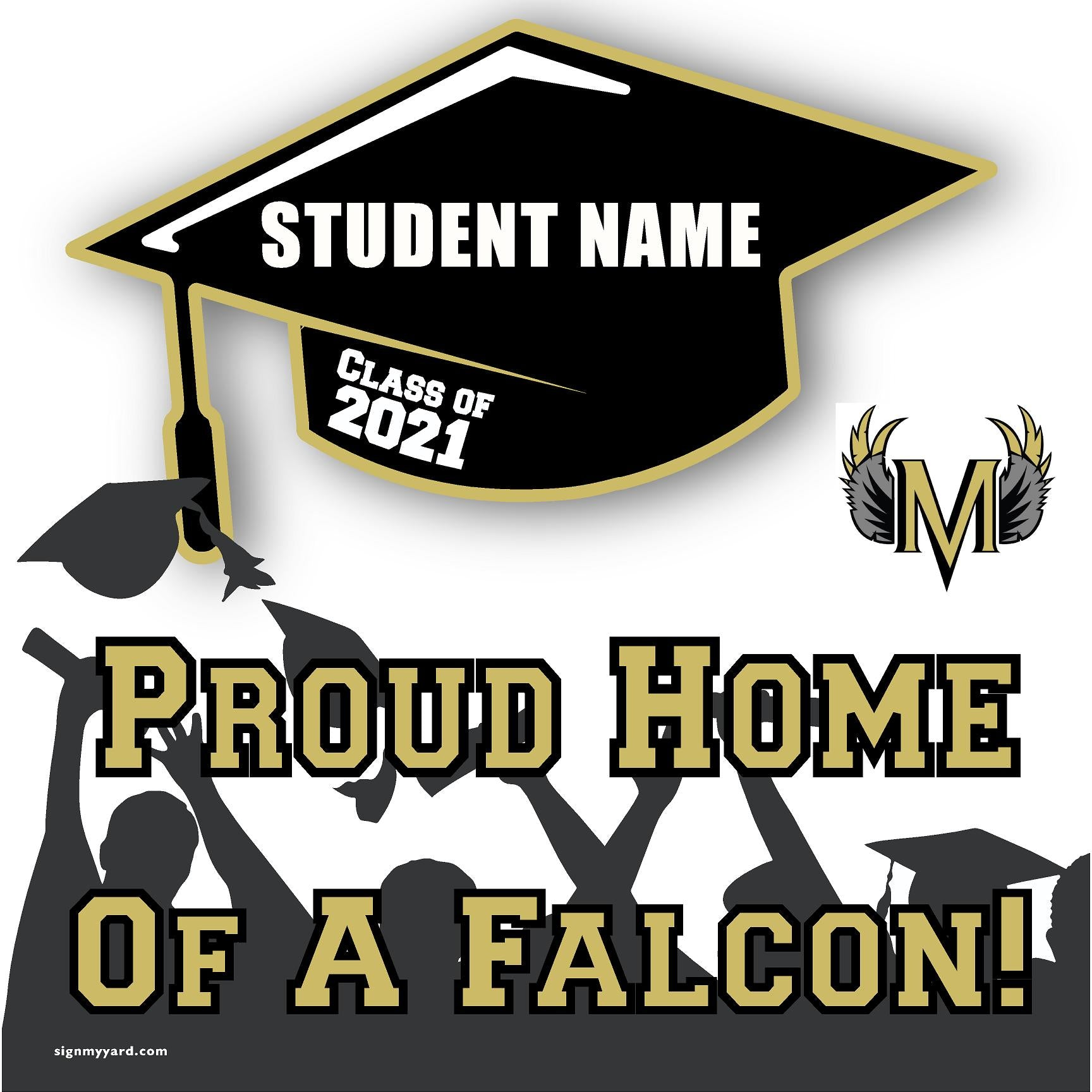 Millenium High School 24x24 Class of 2021 Yard Sign (Option B)
