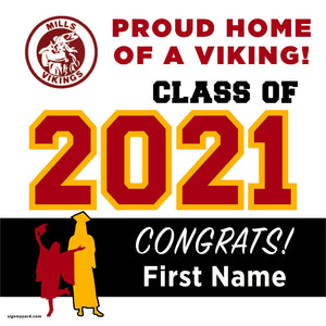 Mills High School 24x24 Class of 2021 Yard Sign (Option A)