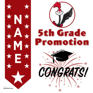 Montair Elementary School 5th Grade Promotion 24x24 Yard Sign (Option B)