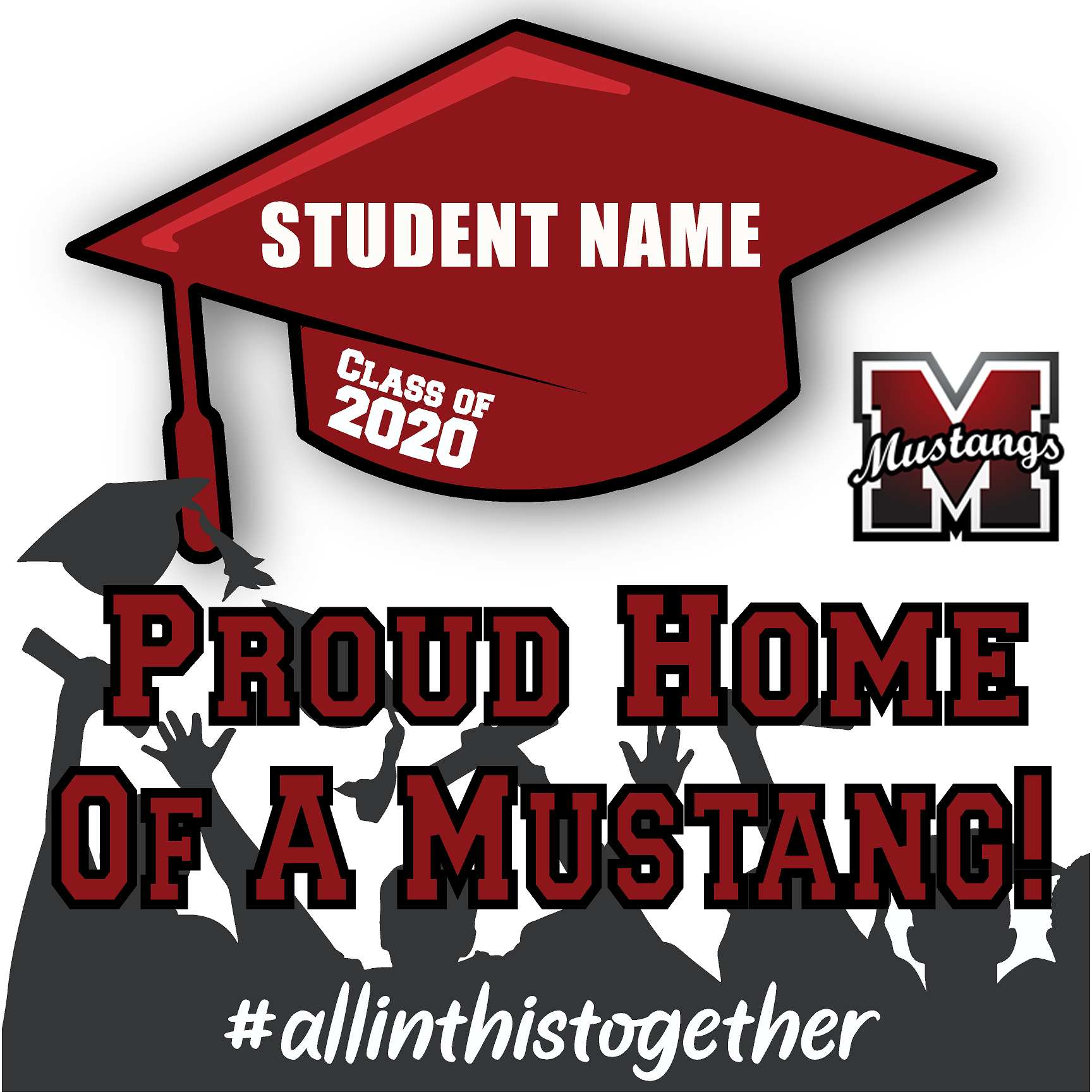 Monte Vista High School 24x24 Class of 2020 Yard Sign (Option B)