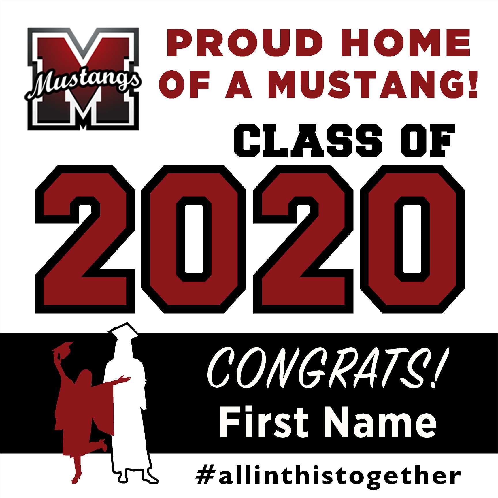 Monte Vista High School 24x24 Class of 2020 Yard Sign (Option A)