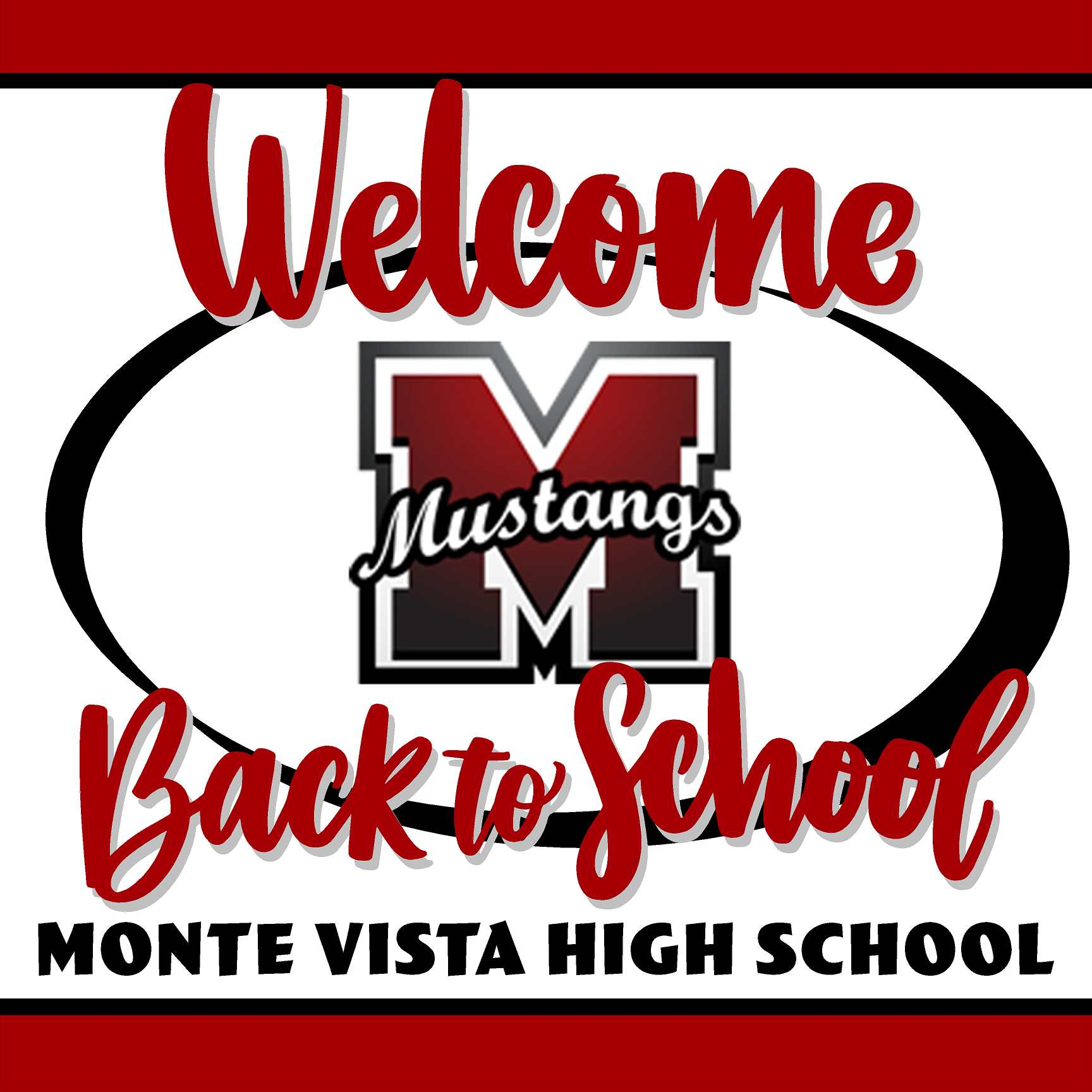 Monte Vista High School Welcome back to school! 24x24 Yard Sign (includes installation in your yard)