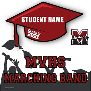 Monte Vista High School Marching Band 24x24 Class of 2021 Yard Sign (Option B)