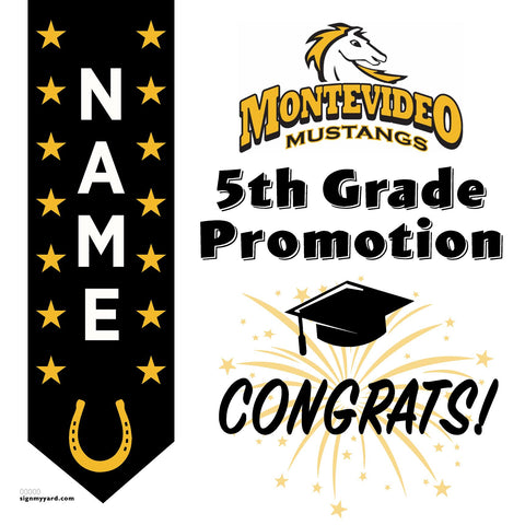 Montevideo 5th Grade Promotion 24x24 #shineon2027 Yard Sign (Option B)