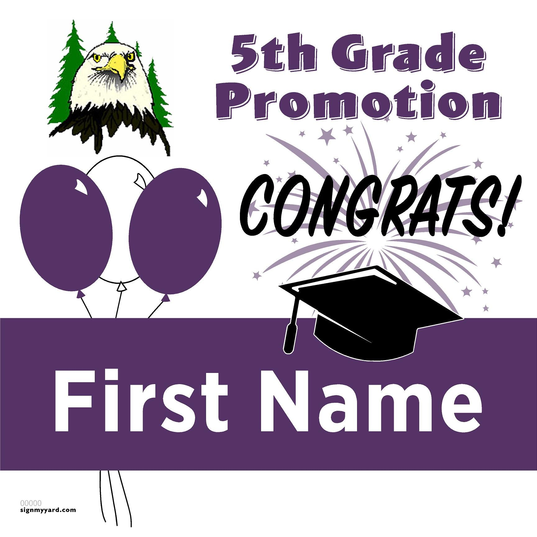 Morello Park Elementary School 5th Grade Promotion 24x24 #shineon2027 Yard Sign (Option A)