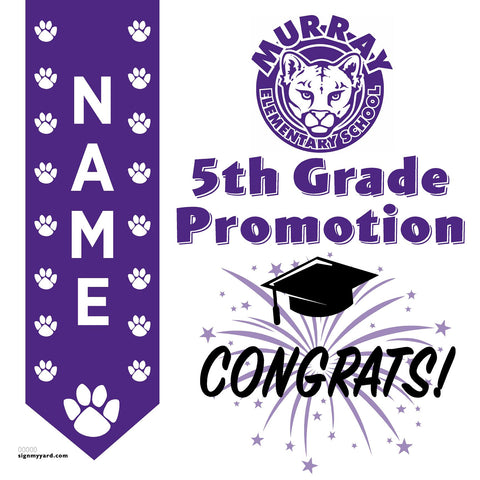 Murray Elementary School 5th Grade Promotion 24x24 #shineon2027 Yard Sign (Option B)
