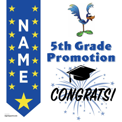 Noddin Elementary School 5th Grade Promotion 24x24 #shineon2027 Yard Sign (Option B)