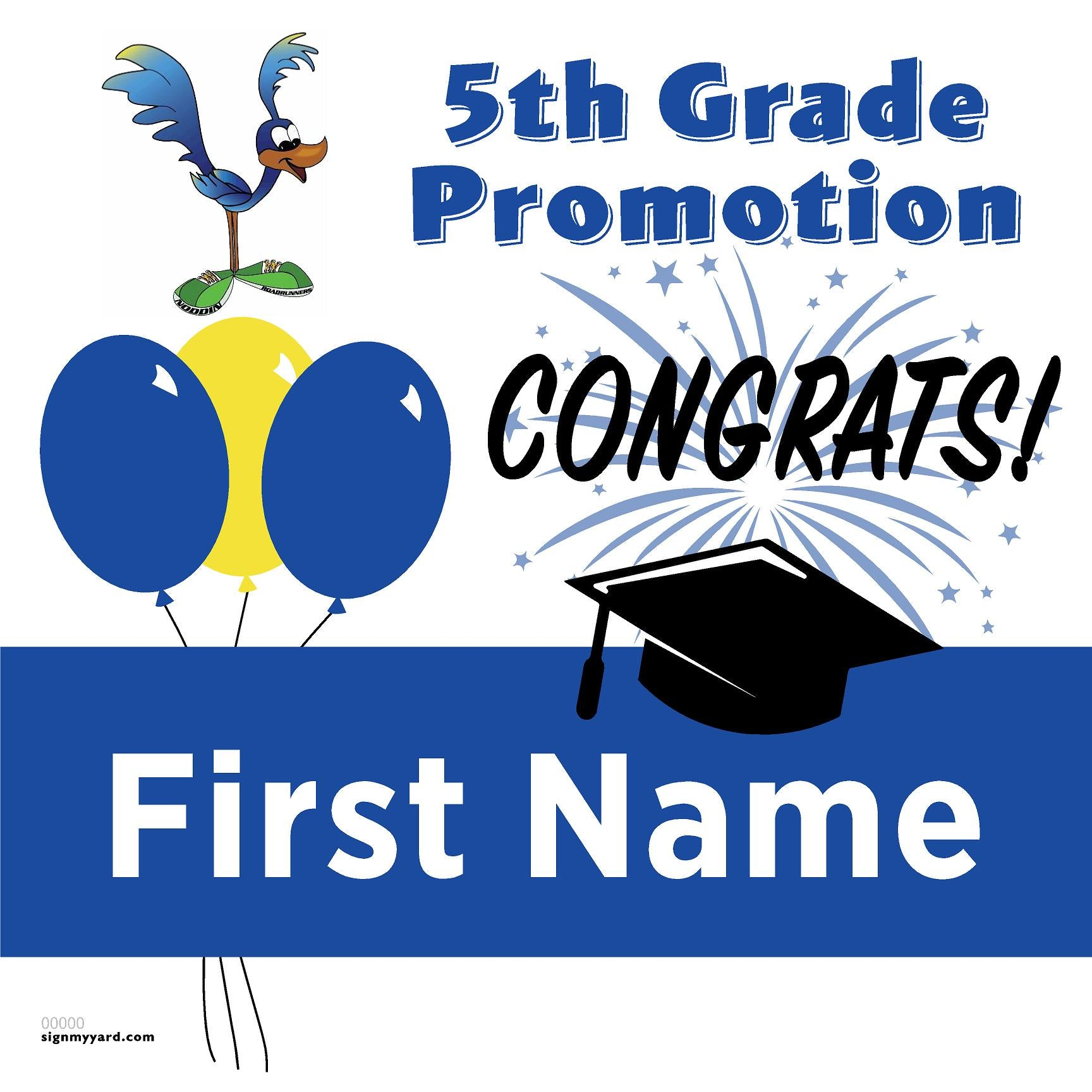 Noddin Elementary School 5th Grade Promotion 24x24 #shineon2027 Yard Sign (Option A)