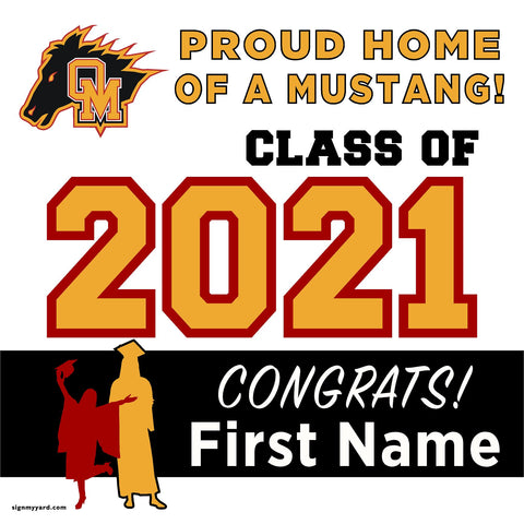 Oakdale High School 24x24 Class of 2021 Yard Sign (Option A)