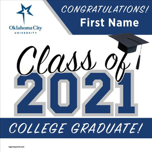 Oklahoma City University 24x24 Class of 2021 Yard Sign (Option A)