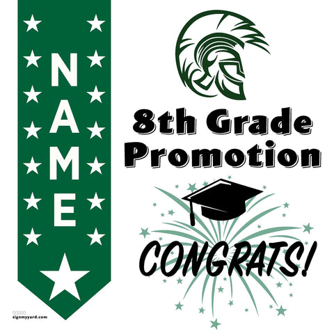 Olympus Junior High School 8th Grade Promotion 24x24 #shineon2024 Yard Sign (Option B)
