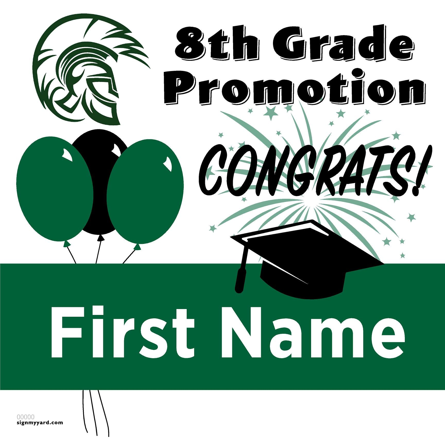 Olympus Junior High School 8th Grade Promotion 24x24 Yard Sign (Option A)
