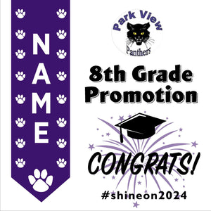 Park View Elementary School 5th Grade Promotion 24x24 #shineon2027 Yard Sign (Option B)