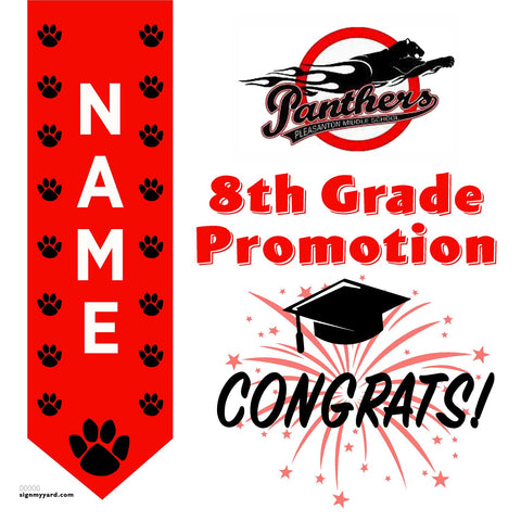 Pleasanton Middle School 8th Grade Promotion 24x24 #shineon2024 Yard Sign (Option B)