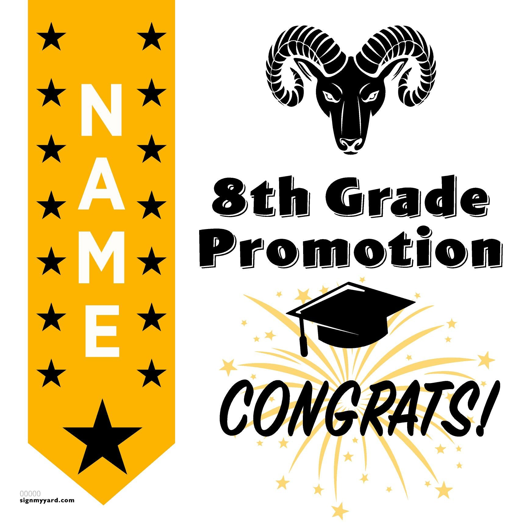 Ralston Middle School 8th Grade Promotion 24x24 #shineon2024 Yard Sign (Option B)