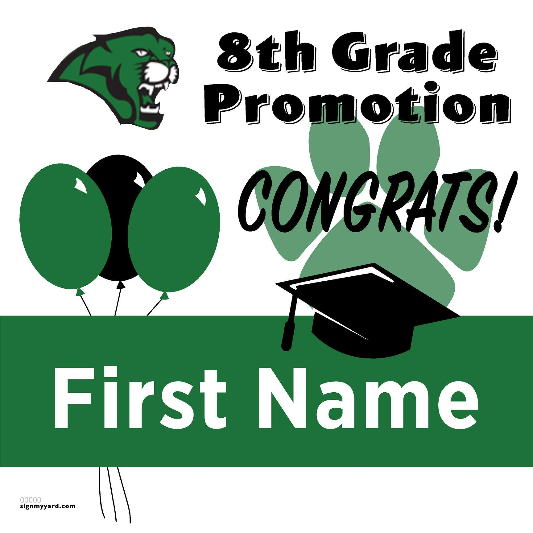 Rancho Medanos Middle School 8th Grade Promotion 24x24 Yard Sign (Option A)