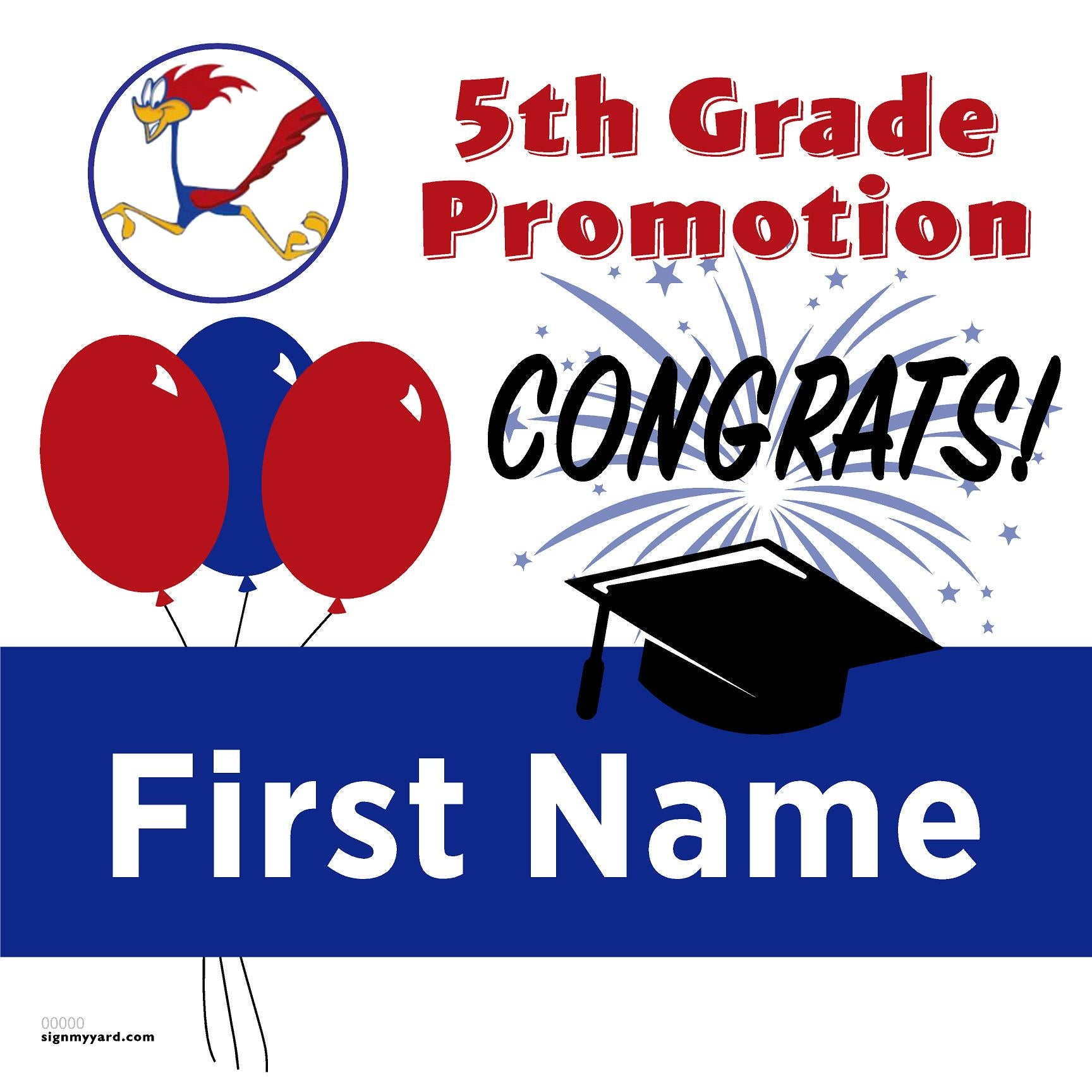 Rancho Romero Elementary 5th Grade Promotion 24x24 #shineon2027 Yard Sign (Option A)