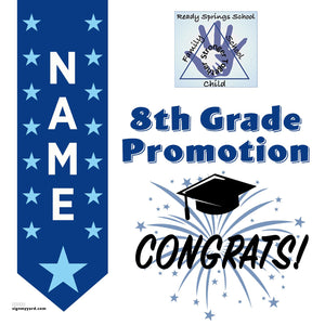 Ready Springs Elementary School 8th Grade Promotion 24x24 #shineon2024 Yard Sign (Option B)