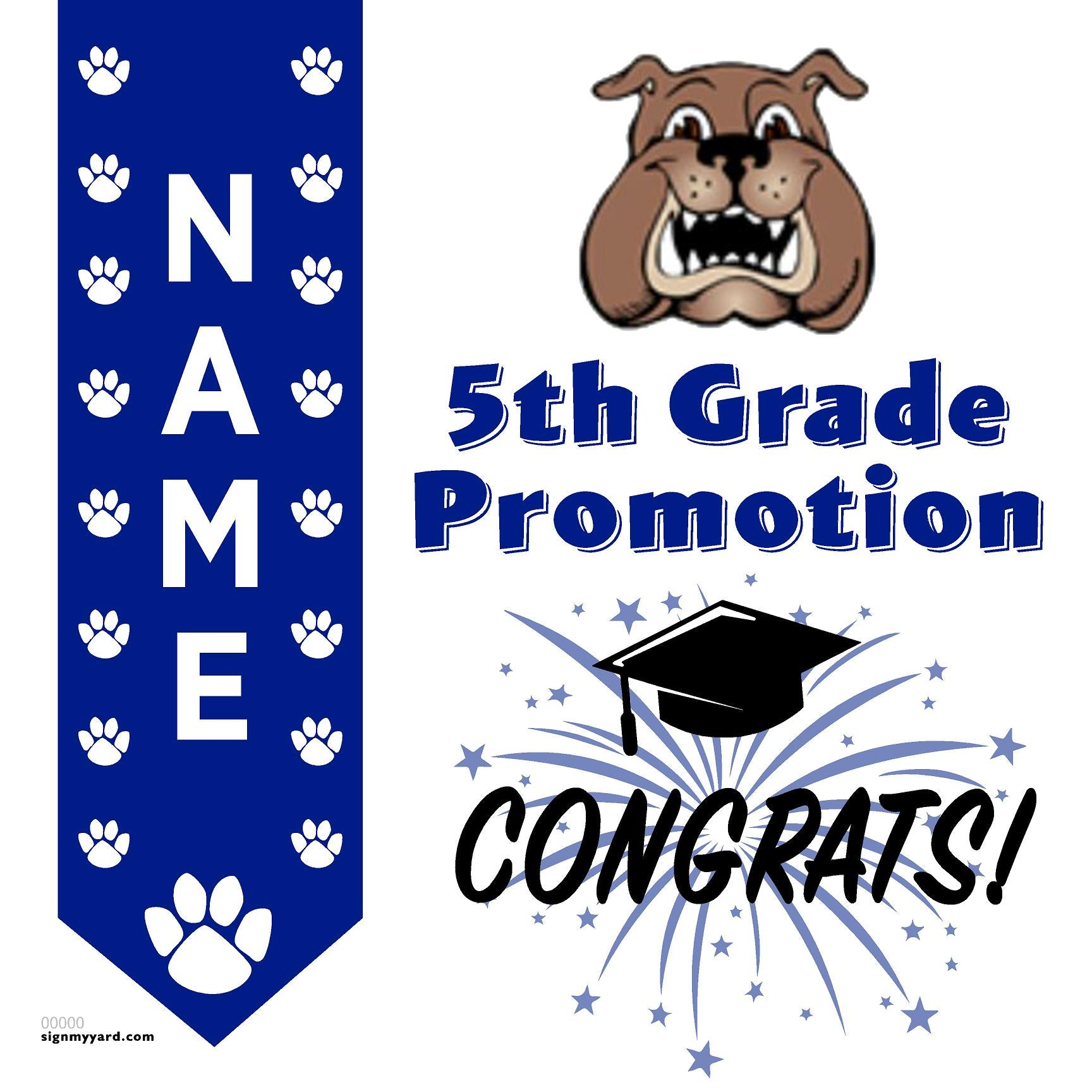Rocklin Elementary School 5th Grade Promotion 24x24 #shineon2027 Yard Sign (Option B)