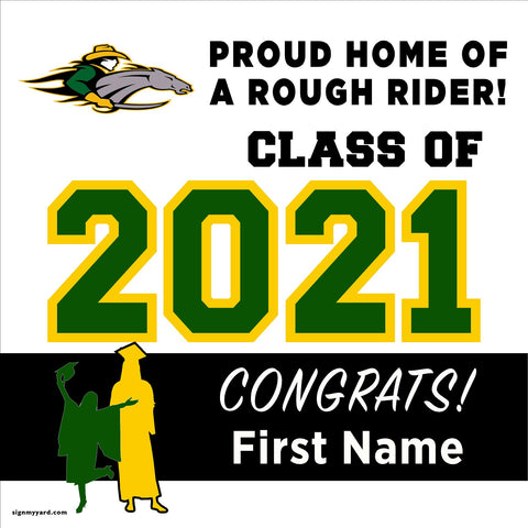 Roosevelt High School 24x24 Class of 2021 Yard Sign (Option A)