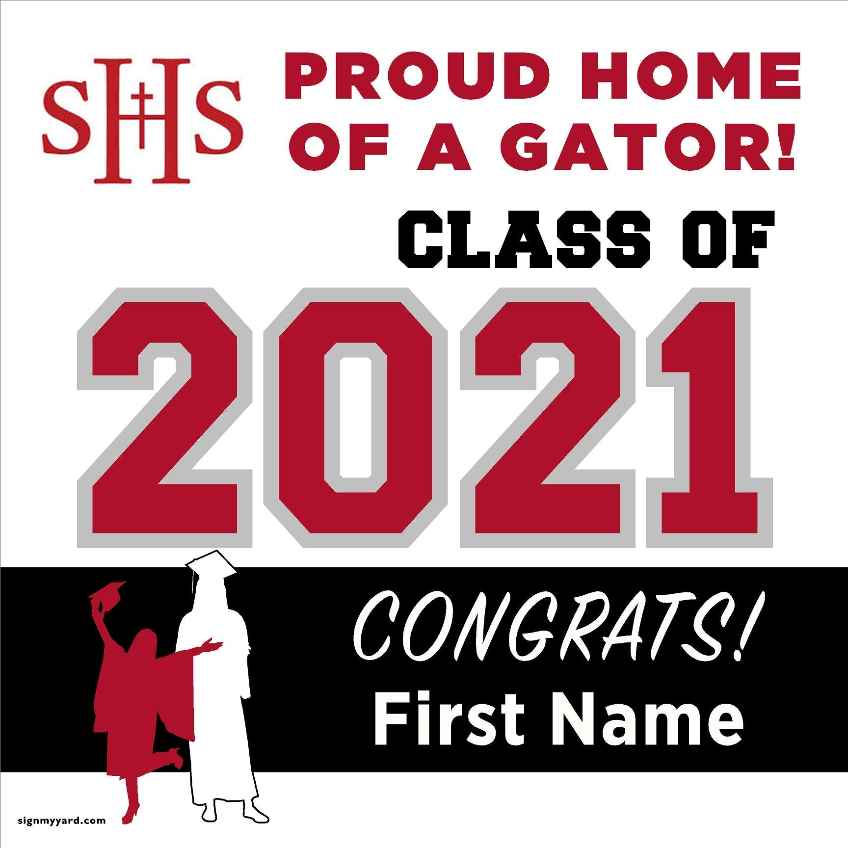 Sacred Heart School 24x24 Class of 2021 Yard Sign (Option A)